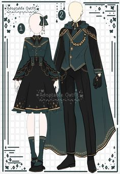 Vintage Fashion Sketches, Fashion Design Drawings, Cosplay Outfits, Anime Outfits, Old Fashion Dresses, Fashion Outfits, Drawing Anime Clothes, Anime Dress, Fantasy Dress