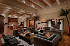 love the brown with the burnt orange accent colors