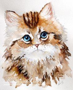 Watercolor Saturday - Kitten