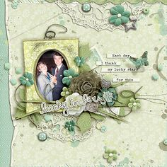 Layout by CT Iowan with My Lucky Stars - Click on image to see the kits and bundle.