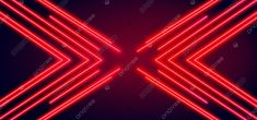 Red Neon Lines Glowing Lines Background Ultraviolet Light Laser Show Performance Stage Floor Reflection Blank Rectangular Frame Gates