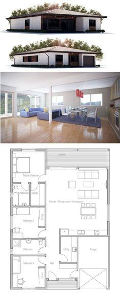 149m² - 3 chambres - Plain pieds:
