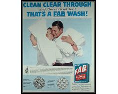 Happy Couple Fab Detergent Wall Art Laundry Room by thevintageshop