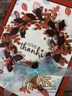 arrange a wreath bundle, gilded autumn specialty dsp, brick & mortar 3D embossing folder, thanksgiving card idea, stampin up, karen hallam Thanksgiving Cards, Thanksgiving Wreaths, Thanksgiving Decorations, Sunflower Cards, Leaf Cards, Stampinup, Autumn Wreaths, Stamping Up Cards, Card Tutorials