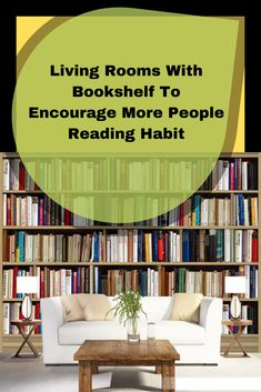 Living room is an area when many people will seat and relax. Encourage them to read by installing bookshelf is nice idea. It doesn't only books but magazine too Bookshelves In Living Room, Living Room Cabinets, Reading Habits, Living A Healthy Life, Beautiful Living Rooms, Clean House, Relax, House Design, People
