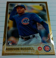 2015 Topps Update Gold SP #1894/2015 Addison Russell RC US220 Cubs #ChicagoCubs