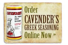 "Cavender's Greek Seasoning - All Purpose seasoning - Harrison, Arkansas Jessica Tennison says ""Harrison is my hometown. It goes on everything & is so delicious! Never need salt or pepper again! Greek Chicken, Lemon Chicken, Baked Chicken, Cavenders Greek Seasoning, Feta Cheese Recipes, Burger Seasoning, Butter Potatoes, All Purpose Seasoning, Greek Salad Pasta"