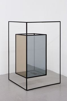 Jose Leon Cetillo,  Double Agent (02), 2009Iron, automotive lacquer, reflective glass