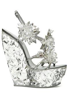 Casadei for Swarovski - (Elsa shoes :) snowflake glamour