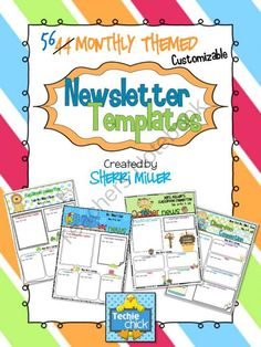 mad mimi templates - monthly newsletter template on pinterest preschool