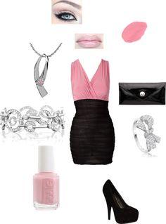 """pink tie affair"" by jaylinryan on Polyvore"