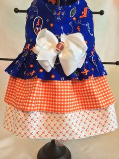 Florida State 3 tiered Ruffled Dog Dress SZ by princessamee, $70.00