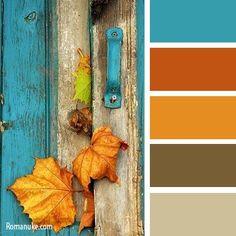 turquoise and fall Orange Color Palettes, Color Schemes Colour Palettes, Colour Pallette, Color Combos, Rust Color Schemes, Design Seeds, Room Colors, Paint Colors, Colours