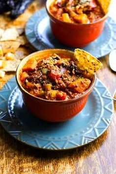 ... Chili Dishes on Pinterest | Baked beans, Black bean chili and Red