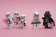 Darth Vader finds your lack of love disturbing! Lego Star Wars Valentines.