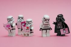 Darth Vader finds your lack of love disturbing! Lego Star Wars Valentines.