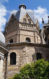 Carolingian architecture - The Palatine Chapel (Octagon) in Aachen, now central part of the cathedral