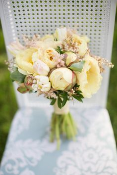 Yellow and Green Garden Bouquet | photography by http://dianaelizabethblog.com/