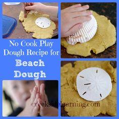 Beach Dough: Homemade No-Cook Play Dough Recipe - Creekside Learning