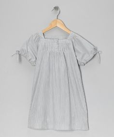 Take a look at this Blue-Gray Pleated Tunic - Toddler & Girls by Wheat on #zulily today!