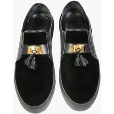 Balmain Velvet tassel slip-on ($760) ❤ liked on Polyvore featuring mens and men's shoes