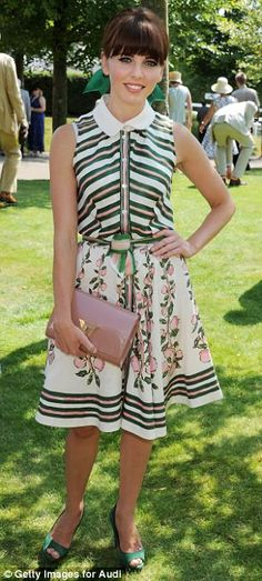 Actress Ophelia Lovibond matched her outfit to the scenery