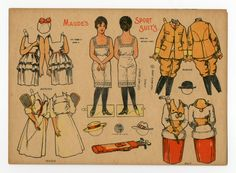 78.2780: Maude's Sport Suits | paper doll | Paper Dolls | Dolls | National Museum of Play Online Collections | The Strong