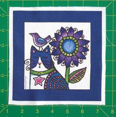 Cat Art Quilt Block Fabric for DIY Crafts/ by SusanFayePetProjects, $3.50