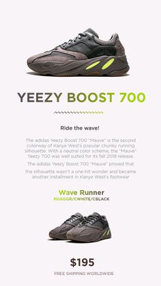 """6c6b080e11e Fashion Adidas Yeezy Boost 700 """"Mauve"""" is the second colorway of Kanye  West s popular"""