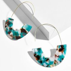 2018 New Fashion Leopard Grain Multi-Color Big Hook Acrylic Earrings Special Design Semicircle Resin Drop Earring ZA Brincos, White Earrings, Crystal Earrings, Statement Earrings, Women's Earrings, Fashion Earrings, Fashion Jewelry, Boho Jewelry, Silver Jewellery, Resin Jewelry