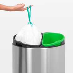 We think the Brabantia Touch Twin Bin is ideally suited for any kitchen. For additional information http://wybone.co.uk/product/brabantia-recycle-touch-twin-bin-brilliant-steel/  48 hours if you order online