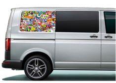 VW Transporter rear side panel printed graphics, pre-cut to fit the Volkswagen Transporter, Vw T5, Inkjet Printer, Campervan, Graphics, Printed, Digital, Fit, Graphic Design