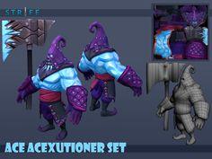 Ace AceXcutioner Set, Romel Revollo on ArtStation at https://www.artstation.com/artwork/ace-acexcutioner-set