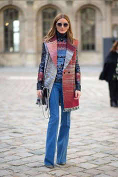 Olivia Palmero's colorful ensemble  | Get great fashion tips at 40plusstyle.com
