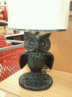 Owl lamp at target...LOVE!
