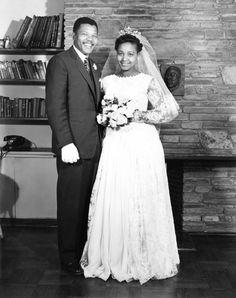 14 June 1958 - Nelson and Winnie Mandela on their wedding day. Nomzamo Winfreda Madikizela marries Nelson Rolihlahla Mandela.