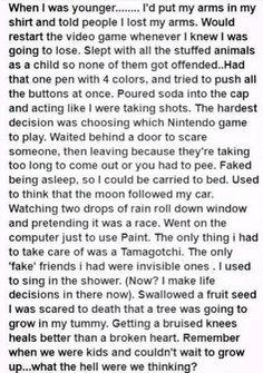 I did every single one as a kid...