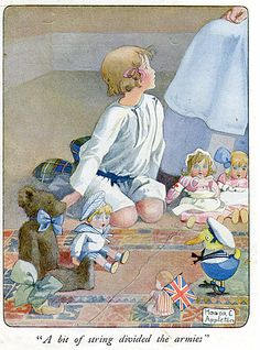 penguinintow:  The dolls look seriously creepy (kind of like Chucky), but I like the little Union Jack in the corner.