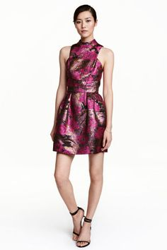 Jacquard-weave dress   H&M