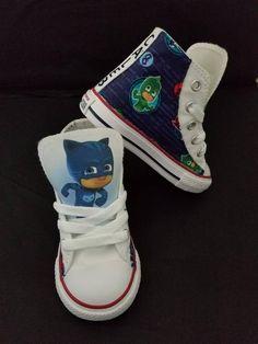 c87342cdc66 Custom Converse PJ masks shoes children birthday sneaker