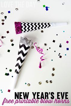 New Years Eve Blow Horn: Free printable!
