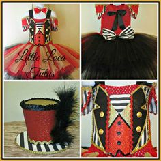 Circus Ringmaster costume tutu dress Birthday by LittleLocaTutus
