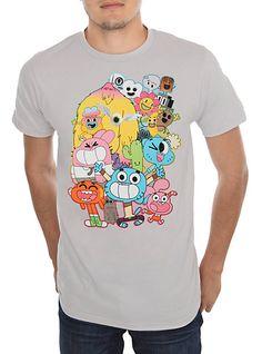Amazing World of Gumball Group Custom T-Shirt Personalize Birthday Tshirt Darwin