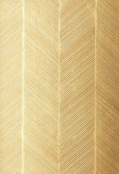 Gold Herringbone Wallpaper by F. Schumacher & Co.