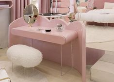 This bedroom concept from Circu draws inspiration from the fanciful splendour of the clouds. From the bed. Dressing Table Vanity, Gender Neutral Colors, Kids Bedroom Designs, Vanity Room, Bedroom Decor, Bedroom Ideas, Girls Bedroom, Interior Design Inspiration, Kids Furniture