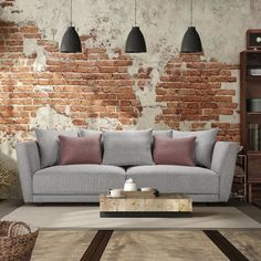 Outdoor Sofa, Outdoor Furniture, Outdoor Decor, Decoration, Couch, Home Decor, Rustic Chic, Grey Fabric, Woodwork