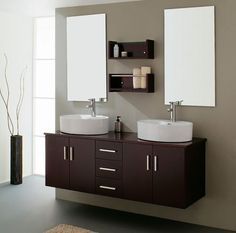 "54"" Opulento Black Double Sink Bathroom Vanity With Medicine Interesting Double Sink For Small Bathroom Decorating Inspiration"