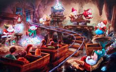 Walt Disney Imagineering just shared a new video with us that offers up a look inside the two attractions in New Fantasyland that are still yet to debut: Princess Fairytale Hall and Seven Dwarfs Mine Train. Walt Disney Orlando, Walt Disney World, Film Disney, Disney Love, Disney Stuff, Disney 2015, Disney Theme, Disney Disney, Disney Vacation Planning