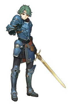 Alm is one of the two protagonists from Fire Emblem Gaiden and its remake, Fire Emblem Echoes: Shadows of Valentia. He is 17 years old in Shadows of Valentia. He appears as DLC in Fire Emblem Awakening, where his map introduces the Dread Fighter class. Fantasy Character Design, Character Design Inspiration, Character Concept, Character Art, Concept Art, Fire Emblem Characters, Dnd Characters, Fantasy Characters, Fictional Characters