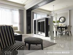 新古典的裝潢圖片為L′atelier Fantasia 繽紛設計的設計作品,該設計案例是一間新成屋(5年以下)總坪數為45,格局為三房,更多L′atelier Fantasia 繽紛設計設計案例作品都在設計家 Searchome